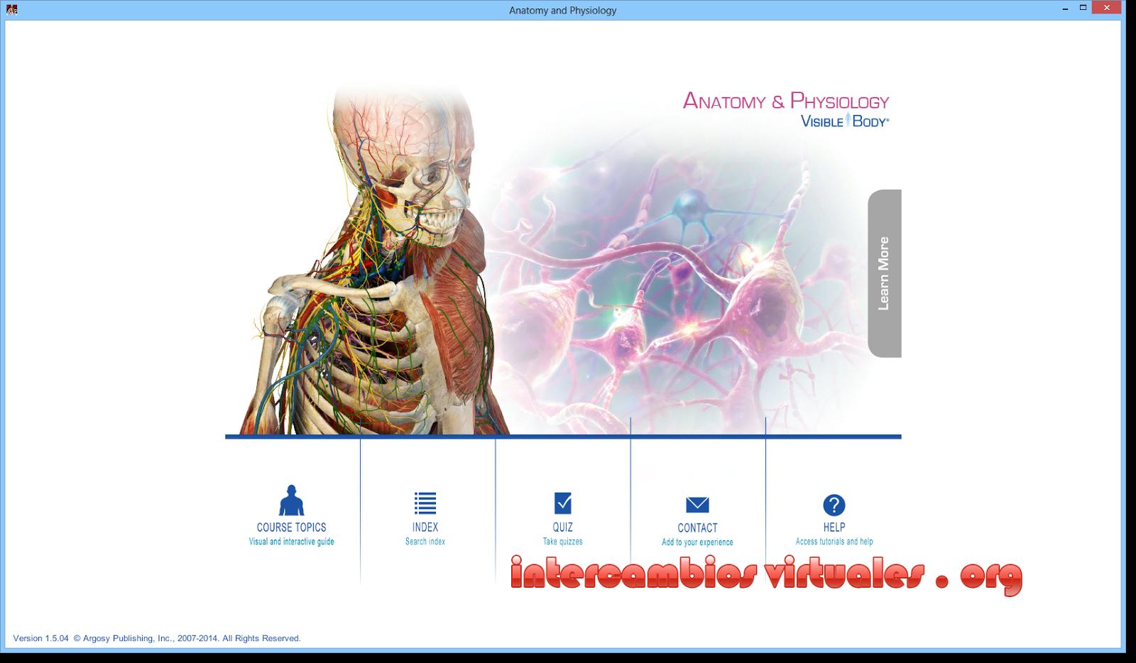 Anatomy & Physiology 2014 v1.5.04, Amplia Gama de Modelos 3D de la ...